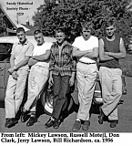 CONTRIBUTED PHOTO: SANDY HISTORICAL SOCIETY - Mickey Lawson, Russel Motejl, Don Clark, Jerry Lawson and Bill Richardson strike a cool stance in 1956. This picture was inspiration for celebrating Lawsons 80 years of cool.
