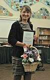 ESTACADA NEWS PHOTO: ISABEL GAUTSCHI - Eagle Creek Elementary reading specialist Teresa Lewis has been recognized as the 2014-15 Estacada teacher of the year.
