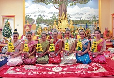 COURTESY OF SARON KHUT/PORTLAND PARKS - Portlands first-ever Cambodian/Lao/Thai (CLT) New Year in the Park, Saturday, April 25, at Glenhaven Park, will feature colorful cultural costumes such as these from a similar celebration in Long Beach, Calif.