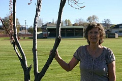 JASON CHANEY - Jeannie Searcy stands in Davidson Field, one of the few parks in existence when she joined the Crook County Parks and Recreation District in 1988.