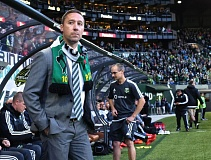 TRIBUNE FILE PHOTO: JAIME VALDEZ - The Portland Timbers and coach Caleb Porter lost a Cascadia Cup match Sunday night at Seattle 1-0.