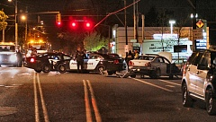 DAVID F. ASHTON - S.E. 92nd was closed, just south of Holgate Boulevard and across the street from Lents Park, as a pursuit that started in Vancouver ended violently in Southeast Portland.
