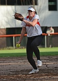 JOHN WILLIAM HOWARD - Scappoose junior Kendal Bailey throws out a pitch during the Indians' opening game against North Marion.