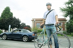 GARY ALLEN - Let it ride - Former city councilor Ryan Howard is co-organizing the 2015 May Commute Challenge, which asks participants to get out of their cars and walk, bike, skateboard or utilize any other alternative form of transportation during the month of May.