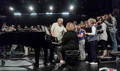 RAY HUGHEY - The alumni choir has been practicing every Tuesday night for several months as they prepare for a May 3 performance at the Richard R. Brown Fine Arts Center.