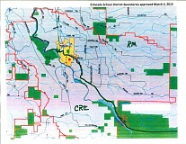 CONTRIBUTED GRAPHIC: ESTACADA SCHOOL DISTRICT - This map shows the new Clackamas River and River Mill boundaries approved by the school board on March 4.