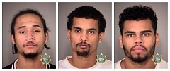 MULTNOMAH COUNTY SHERIFF'S OFFICE - From left: Dajuan Travonte Shakier, Ismail Sharif Abdullahi and Robert Jermaine Richardson Jr.