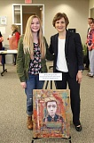SUBMITTED PHOTO - Westview High School student Alisha Steigerwald was honored by Congresswoman Suzanne Bonamici for her painting, 'Someone that I used to know.'