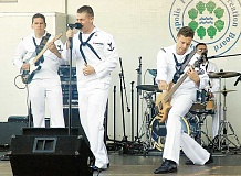 SUBMITTTED - Tunes - The commons area at Newberg High School will groove to the Navy Rock Band during Military Appreciation Night May 20.