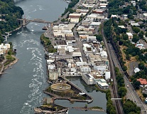 FILE PHOTO - Oregon City, below Willamette Falls.