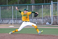 BRAD CANTOR - West Linn pitcher Will Matthiessen threw a complete game last Friday to help the Lions win the rubber match in its series with Tualatin.