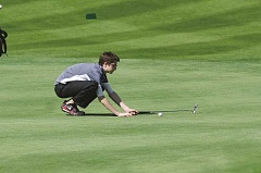SUBMITTED PHOTO: GREG ARTMAN - Noah Schechter finished third on the team with 174 strokes in two rounds at the regional tournament.
