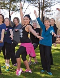 SUBMITTED PHOTO - Neylana Bezerra, center, will lead a mini Zumba Gold class during North Clackamas Parks and Recreation Districts Senior Fun Day.