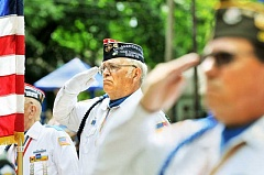 GARY ALLEN - Reverence - The local VFW and American Legion posts, in addition to being organizers of the Memorial Day event, are out in force showing their patriotism at the annual event at Memorial Park.