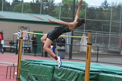 TIMES PHOTO: MATT SINGLEDECKER - Jesuit junior Hadley Wilhoite was named Female Athlete of the Meet after winning the high jump, long jump and taking second in the triple jump at the Metro League District Championship on Friday.