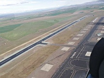 ROB BERG - The Madras Municipal Airport has a newly paved runway designed to handle heavier aircraft. The 5,079-foot runway was rebuilt with grants from the FFA Airport Improvement Program and Oregon Department of Transportation Connect Oregon V. The main runway was closed for 120 days, but reopened Friday.