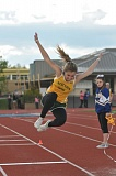 SETH GORDON - West Linn's Madeline Darrow took second in the triple jump in last week's dual meet at Newberg and won the high jump by clearing five feet.