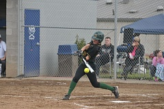 SETH GORDON - West Linn's Megan Talbert makes solid contact during last week's 1-0 victory over Newberg. The Lions finished with six straight wins over TRL opponents