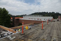 PHOTO COURTESY OF PORTLAND PUBLIC SCHOOLS - Wilson High School received a new, three-acre roof during a 2013 summer improvement project.