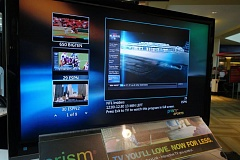 JOSEPH GALLIVAN - CenturyLink is pushing its TV over the internet service called Prism in certain Portland neighborhoods, as a challenge to cable TV carriers. A kiosk at the Lloyd Center mall shows whats on offer.