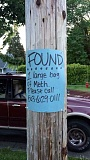 COURTESY PHOTO - A Forest Grove woman found more than an ounce of meth while she was walking her dog this month. She made this sign, complete with the non-emergency police number.