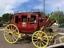 SUBMITTED PHOTO - The Wells Fargo stagecoach is coming.