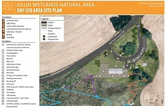 COURTESY PHOTO - A conceptual plan for Killin Wetlands includes parking, trails, picnic areas, a shelter and new fencing.