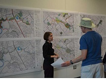 HILLSBORO TRIBUNE PHOTO: KATHY FULLER - A handful of residents attended last week's meeting at the Hillsboro Main Library to take a look at the city's draft Trail Master Plan.