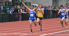 TIMES PHOTO: MATT SINGLEDECKER - Valley Catholic senior Wilder Boyden won the 1,500 and 3,000 at the 4A track and field state championships at Hayward Field on Saturday.