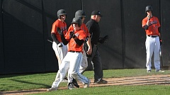 TIMES PHOTO: MATT SINGLEDECKER - Beaverton senior catcher and Ryan Hill and the Beavers beat Barlow 1-0 in the first round of the 6A state playoffs on Monday.