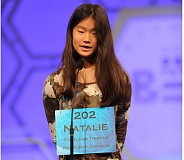 COURTESY MARK BOWEN/SCRIPPS NATIONAL SPELLING BEE - Natalie Cha on stage at the 88th annual Scripps National Spelling Bee in the Maryland Ballroom at the Gaylord National Resort and Convention Center in National Harbor, Maryland.