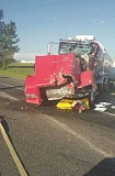 OREGON STATE POLICE - A crash on I-5- Wednesday sent one driver to the hospital with minor injuries.