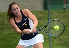 VERN UYETAKE - Lake Oswego's Katie Day advanced all the way to the state championship match in singles at last week's state tennis tournament.
