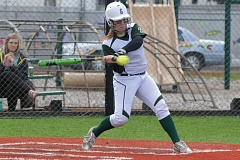 ESTACADA NEWS: PARKER LEE - Estacadas Hailey Clark takes a swing during last weeks 16-6 home loss to Crook County.