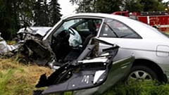OSP - Three people were taken to hospitals following a head-on crash near Arrowhead Golf Course Monday.