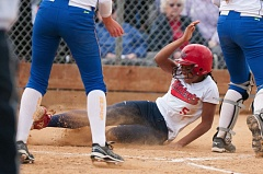 Valeti Fifita slides home with the winning run in Westview's 3-2 win over Barlow in the 6A state softball semifinals.