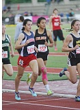 JEFF WILSON/THE PIONEER - Culver senior Andrea Retano works her way through a crowd during Friday's final in the 2A 800-meter run. She would finish third.