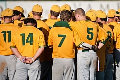 TRIBUNE PHOTO: JOHN LARIVIERE - The West Linn Lions meet after the championship game.