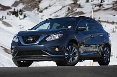 PORTLAND TRIBUNE: JOHN M. VINCENT - There's more going on with the 2015 Murano's design than with many competitors. A deep 'V' shaped chrome accent holds the upper grille, while boomerang-shaped LED accent lights wrap the halogen headlights. LED headlights are available.