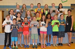 SUBMITTED PHOTO: SUE STEGER - Lakeridge Junior High students receive piles of honors recognizing their hard work. These kids are Super Students.