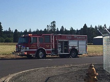 COURTESY OF ESTACADA RURAL FIRE DISTRICT 69 - Estacada Fire personnel are responding to a chemical spill  at Estacada Mini Storage.