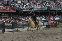 CONTRIBUTED PHOTO - Rider Kiesner will bring his and trick-roping, gun-spinning to the Crooked River Roundup.
