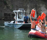 SUBMITTED PHOTO:  - Deputies with the Clackamas County Sheriffs Office Marine Unit will enforce all boating laws this summer; boaters and people on rafts caught without a life jacket face fines of up to $260.