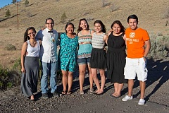 PHOTO BY ALYSSA MACY - Warm Springs Youth Council delegates who will be traveling to Washington, D.C., are Feliciana Conner, left, Gavin Begay, Keeyana Yellowman, Ashley Reese, Malia Collins, Summer Brunoe and Mitchell Lira.