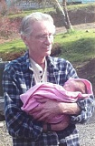 SUBMITTED PHOTO - Vietnam Veteran Stephen Glimpse cradles his youngest granddaughter.