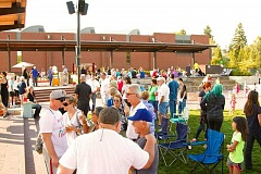 COURTESY OF TONYA HAMILTON RUSSO - Last year's Italian Marketplace drew crowds to the Old Cannery Square Plaza fountain to enjoy all things Italian. This year's gathering is set for July 25.