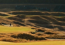 COPYRIGHT USGA/DARREN CARROLL - A view of the 14th hole at Chambers Bay during a practice round for this week's U.S. Open.