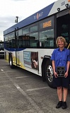 PHOTO COURTESY: TRIMET - Milwaukie resident Lyn Simons proudly displays her Bus Operator of the Year award.