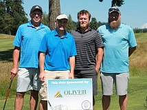 The team from Wilcox Arredondo CPA, which won the recent Wayne Oliver Golf Classic.