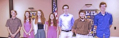 Seven of the Canby Kiwannis scholarship winners.